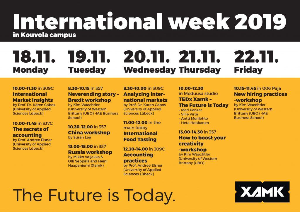 International Week at Xamk 2019